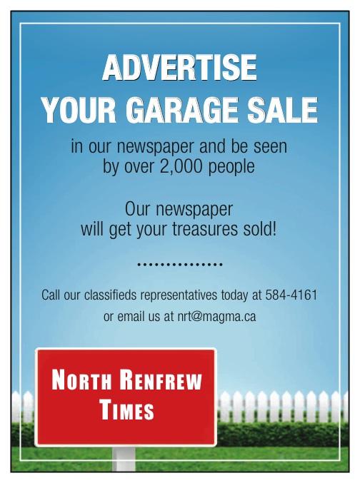 NRT garage sale promo 3x4.5